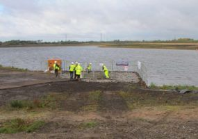 Lanes Engineers at Chasewater reservoir