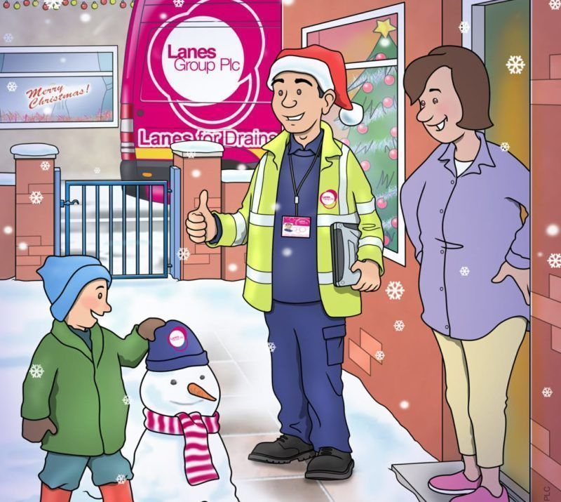 Lanes for Drains Christmas Illustration