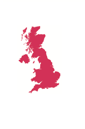 The United Kingdom in Pink