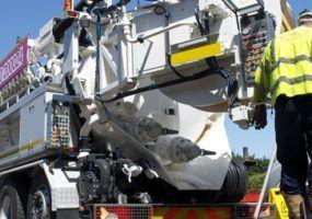 Lanes for drains Jet Vac Tanker