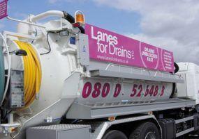 Lanes for drains sewage tanker