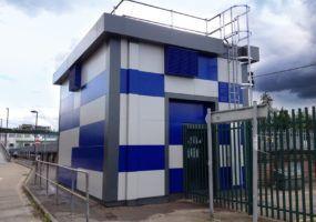 Unique rail pump house