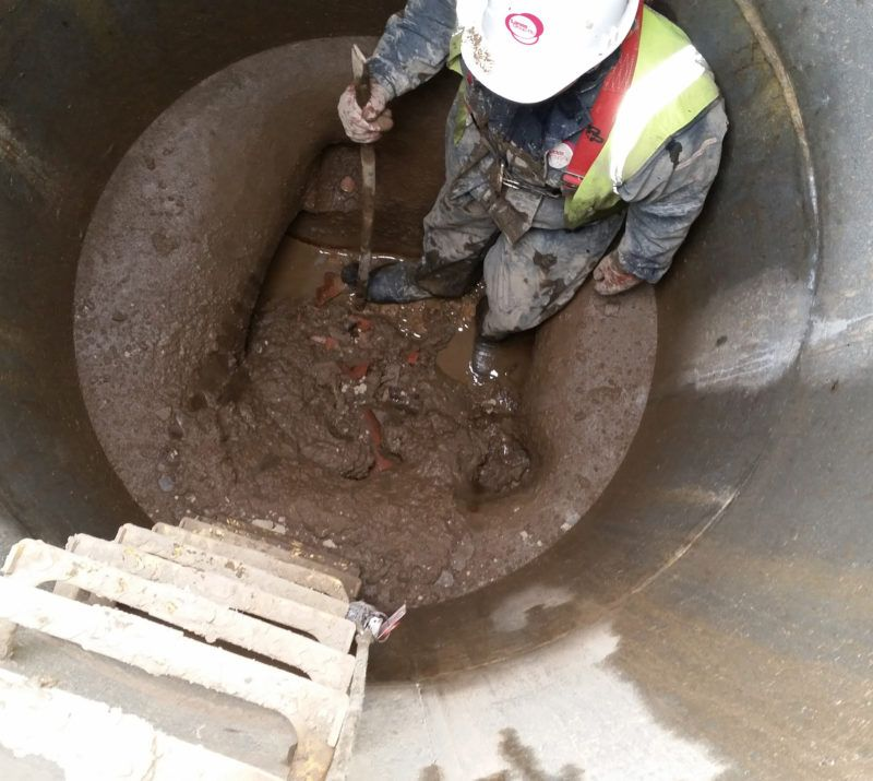 Confined space in sewer
