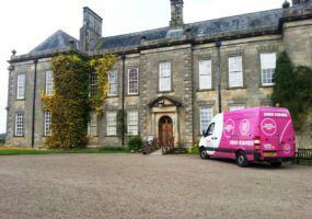 Wallington Hall with Lanes van parked outside
