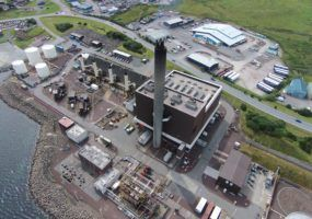 Aerial image of Shetland Power Station
