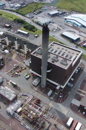 Aerial image of Shetland Power Station
