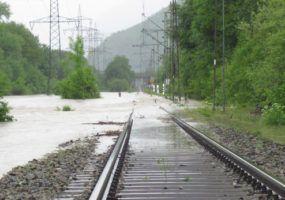 Flooded Railway Tracks