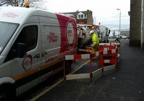 Lanes for drains teams at broomhill estate