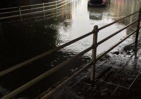 Flash flooding in London