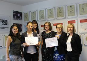 Lanes for drains staff with AXA Customer service awards