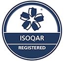 ISOQAR registered accreditation badge