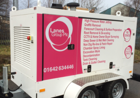 15,000 PSI Box Units with Lanes Group PLC branding
