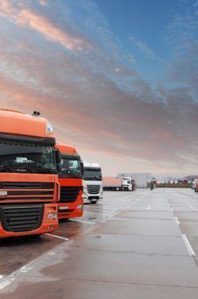 Truck in warehouse - Cargo Transport