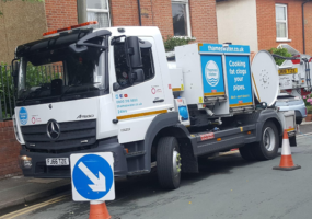 Thames Water Cityflex truck on site in residential street