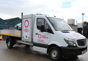 Lanes Group branded tipper unit van