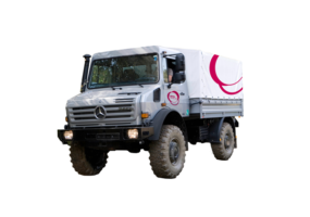 Unimog all-purpose truck with Lanes Group branding