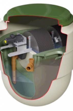 Septic Tank Cut in Half