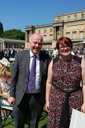 Paul McParland and Jane Horan at Buckingham Palace