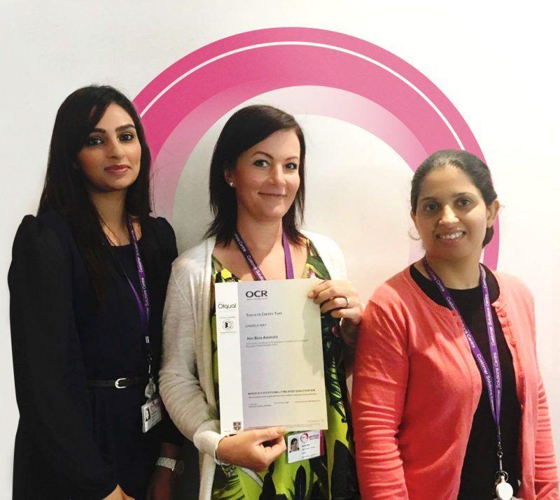 l-r-Misbah Nareen, Daniela May & Nasrin Hussain