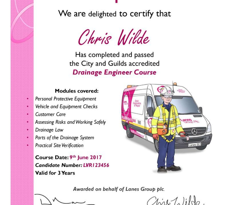 City & Guilds Drainage Engineer Certificate