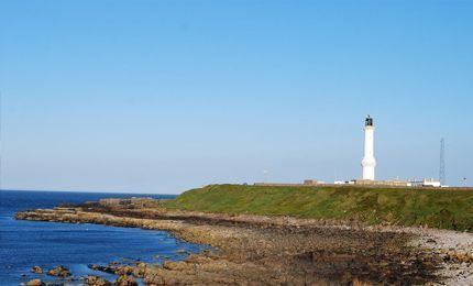 Lighthouse on coast of Aberdeen