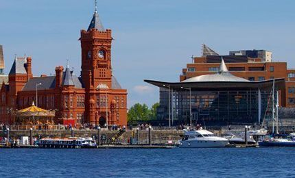 Cardiff dock from the water