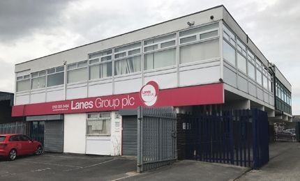 Lanes Group PLC Leeds Depot exterior