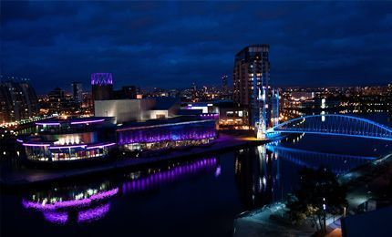 The Lowry at Salford Quays, Manchester at night