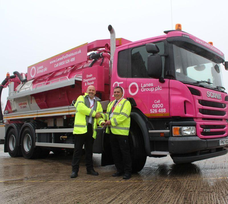 A Pink Jet Vac Tanker
