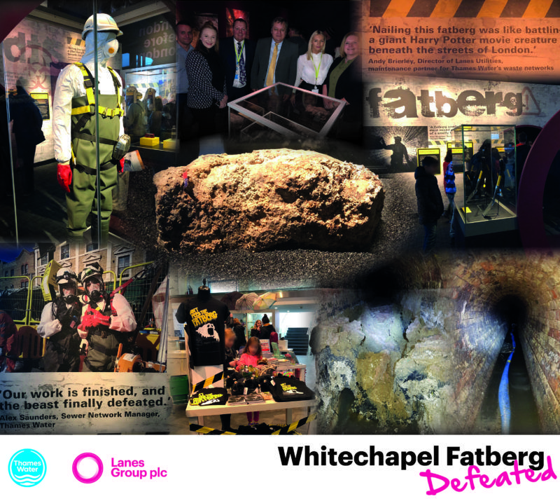 London Museum Fatberg exhibit-montage