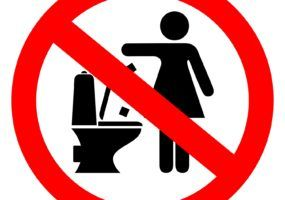 Don't flush tampons down the toilet