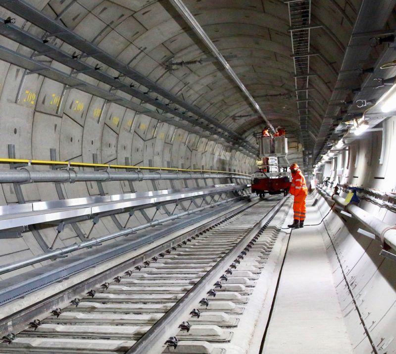 Underground the Elizabeth Line