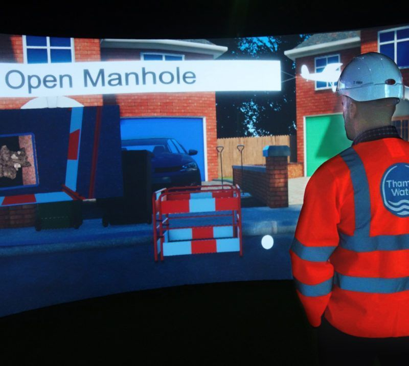 Example of the virtual reality work that could be implemented towards training.