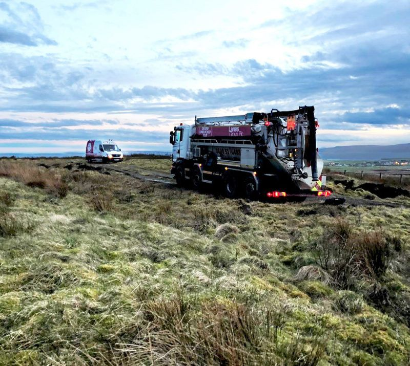 Lanes Group plc delivering specialist pipe surveying and cleaning services in Orkney.