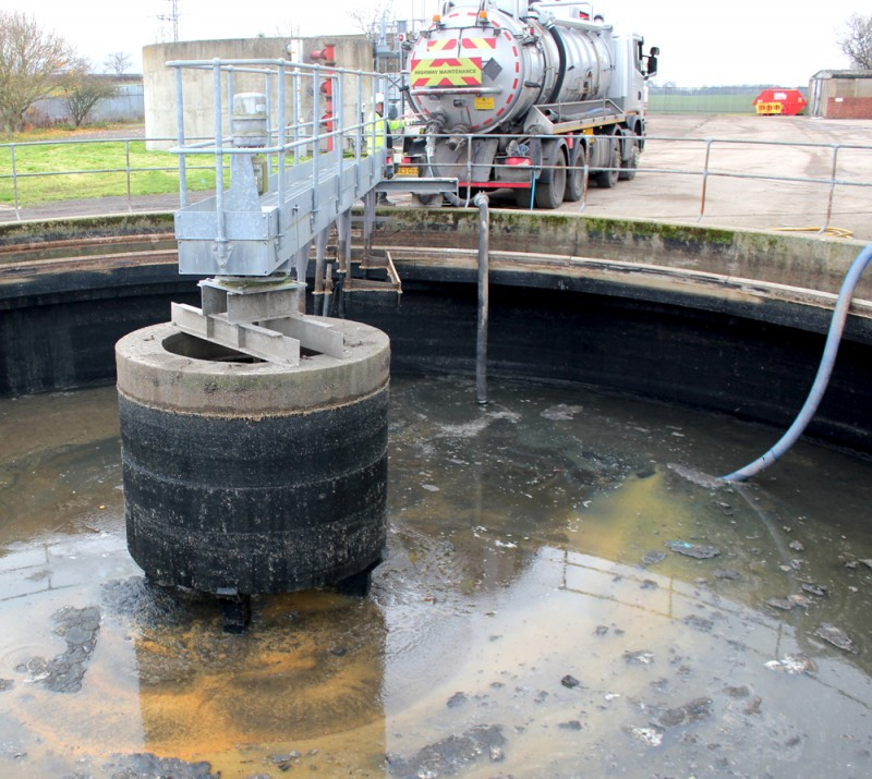 Northumbrian Water water treatment tanker clean SQU