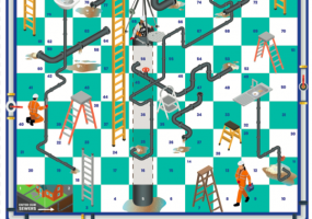 Pipes and Ladders board game Unblocktober version of Snakes and Ladders